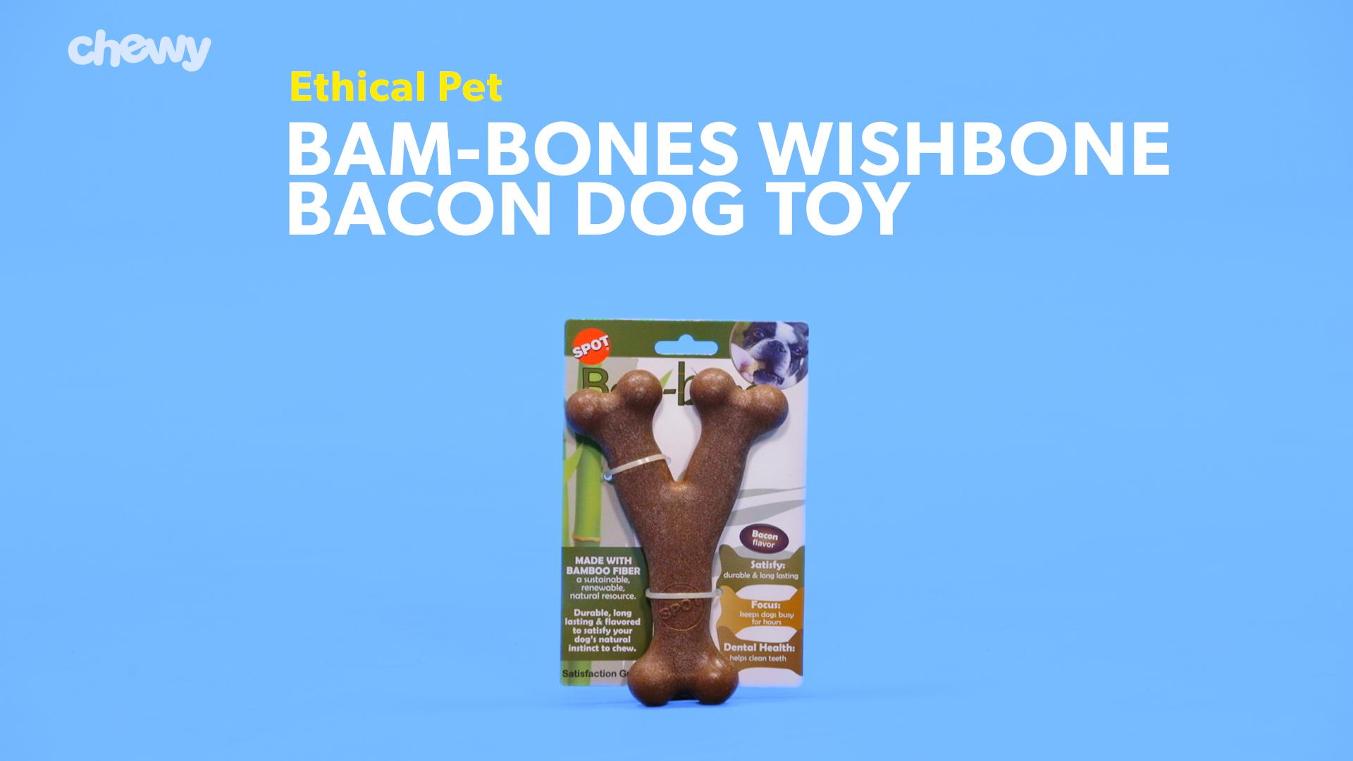 Ethical Spot Bambone Wish Bone Bacon Flavor 5.25 Inch **Free Shipping**
