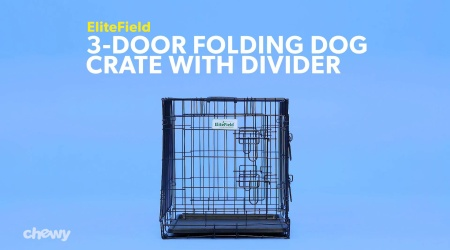 Collapsible Wire Dog Crate With Divider