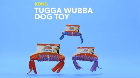 Wubba Tugga Assorted Colors For Small Dogs Durable Cotton Rope Tug of War Dog Toy KONG